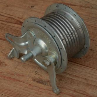"""Trommelbremsnabe """"SACHS"""", Alu/Stahl verzinkt, 28Loch, Einbaumaß 100mm, Achse FG9.5mm"""