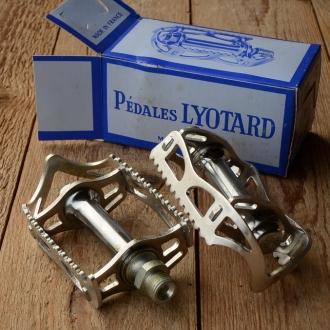"""Pedale """"Lyotard No.45"""", Alu-Rahmen, orig. 60/70er Jahre, ideal für den Rennrad-Klassiker, Gewinde 9/16 Zoll"""