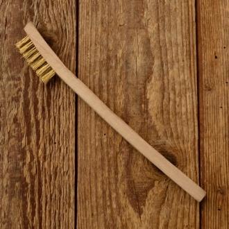 Reinigungsbürste Messing mit Holzgriff, Kerzenbürste für die Werkstatt, Länge:20cm