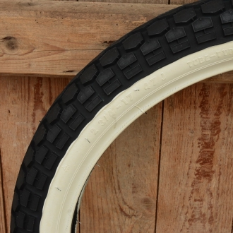 "Moped Reifen 21 x 2.75 (2 3/4 - 17) Continental ""KKS10 WW"", Weißwand"