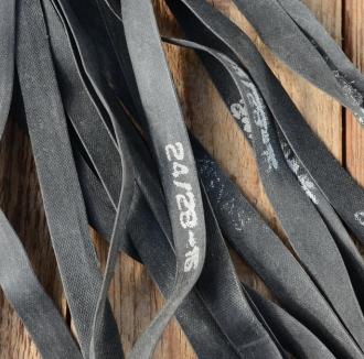 "Felgenband 24"" - 28"", 15 mm breit, Gummi schwarz"