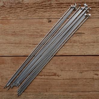 Speichen M3 (2.6mm), glatt, Stahl verchromt, ohne Nippel, Länge: 260 mm