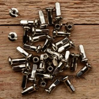 Speichennippel M3, D-Schaft=5,0 mm, L=15mm, Messing vernickelt