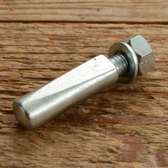 Kurbelkeil D=8.0mm, Stahl, glanzverzinkt, langer Anschnitt