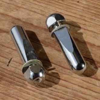 Kurbelkeil D=9.5mm, Stahl, verchromt, kurzer Anschliff, orig. 50/60er Jahre