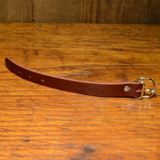 Lederriemchen 18cm, rotbraun