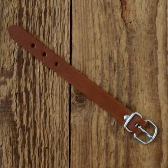 Lederriemchen 15cm, braun, 13mm breit, zur Werkzeugtaschen Montage