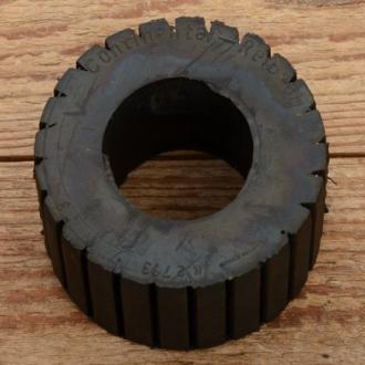 """Reibrolle für Fahrradmotor """"LOHMANN""""-Selbstzünder,  Gummi, schwarz, Neuauflage nach altem Muster."""