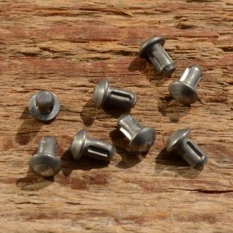 Kerbnagel, D=5.2/3.0mm L=7.0/5.0mm, ideal zur Befestigung von Typenschildern