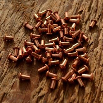 Kupfer Niet, D=3.3/2.0mm L=4mm, ideal zur Befestigung von Emblemen