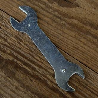Flachschlüssel,  13/15 mm, ideal für Nabenkonen / Kontermuttern, L=115mm, 2.1mm dick