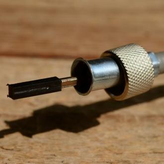 Tachowellen Adapter von VDO auf HURET, Kunststoff schwarz