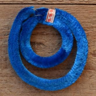Nabenputzringe flauschig,  blau, für Fahrrad, 2 Stück