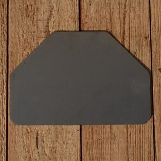 Kennzeichen hinten, unlackiert, passend für 98 ccm Motorfahrrad, frühe Motorräder etc.,  B=205mm/H=138mm