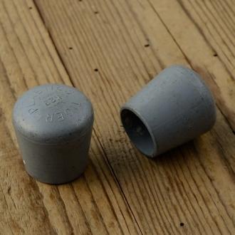 Schutzkappe für z.B Zweibeinständer, silbergrau, L=33mm/D=30mm, D_innen=21mm