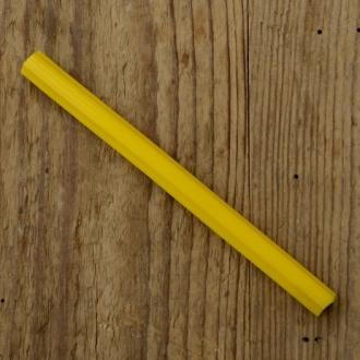 Gepäckträger Gummieinlagen, gelb, L=122mm, Breite=10mm, Klemmbreite ca. 7mm, orig. 50/60er Jahre