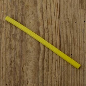 Gepäckträger Gummieinlagen, gelb, L=130mm, ca. 8mm breit, Klemmmass ca. 4mm, orig. 60/70er Jahre