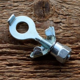 Kettenspanner, glanzverzinkt, D=23/11mm L=60mm, M6, für Mopeds ab 1960