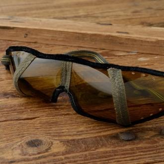 Fahrrad / Motorradbrille,orig. aus altem Lagerbestand, Celluloid, sehr leicht und gut abgetönt für die Ausfahrt im Sommer..