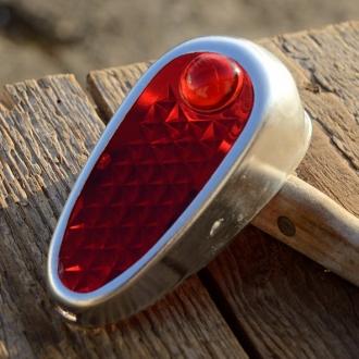 """Gehäuse u. Glas f. Moped- u. Fahrradrücklicht, Typ """"IMPEX"""", Breite=38mm, Höhe=93mm,"""