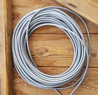 Bowdenzug Außenhülle, grau, Durchmesser außen 5.7mm, innen passend für 1,5 bis 2,5 mm Innenzug, Preis pro Meter