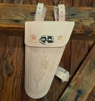 Werkzeugtasche, echtes Leder, naturfarben, Beschläge vernickelt, passend für viele 20-60er Jahre Herrenfahrradklassiker