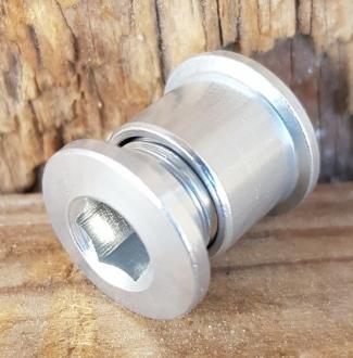 Kettenradschrauben,  Aluminium Lightweight, f. 10 mm Bohrung passend, 5er Satz, NOS