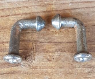 Pumpenhalter zum einlöten, orig. 50-80er Jahre,  sehr stabil, Paarpreis