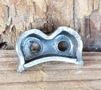 Gegenhalter für doppelten Bowdenzug (L. Bobet-Schaltung) ,  zum einlöten am Rennrad /Sportrad, orig. 50-80er Jahre, alte Neuware.
