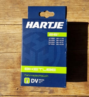 "Fahrrad - Schlauch, Hartje 26"""" universal  (47-559 - 57-559) , Dunlop Ventil"