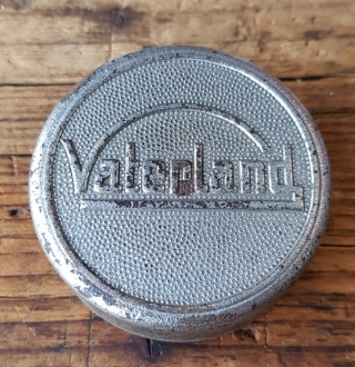 """Fahrrad Klingel Deckel """"VATERLAND"""", orig. 30-50er Jahre, verchromt, ohne Unterteil, ggf. Gebrauchsspuren, siehe Bild"""