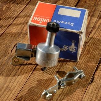 "Dynamo ""UNION"", 80er Jahre, Aluminium, Rechtsanbau, incl. Halterung, neu aus Altbestand"
