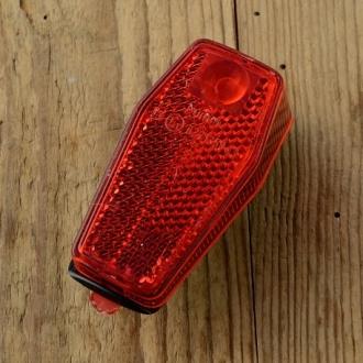 """Kunststoffrücklicht, """"BUMM"""", orig 70/80er Jahre , schlanke Ausführung, 78x35mm, Schutzblechmontage"""