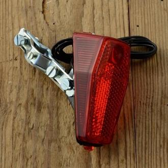 """Kunststoffrücklicht, """"BUMM"""", orig 70/80er Jahre , schlanke Ausführung, 78x35mm, Strebenmontage"""