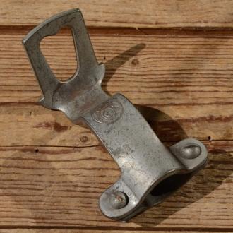 Carbidlaternenhalter, silber, Montage am langen Lenkervorbau, orig. 10-30er Jahre