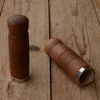 Holzgriffe, genutet, braun gebeizt,  22mm, 100mm lang