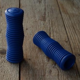Kunststoffgriff, blau,  quergerillt, 22mm, 70/80er Jahre, orig Altbestand