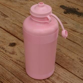 Trinkflasche, ohne Aufdruck, rosa, Kunststoff, orig. Altbestand, NOS