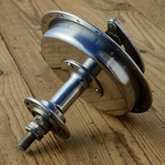 """Trommelbremsnabe, """"UNION"""" Stahl verchromt, 36Loch, Einbaumass=105mm, , NEU aus Altbestand"""