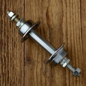 """Nabe Hinterrad, """"VELO"""", Stahl verchromt, 36Loch, Einbaumaß 110mm, Achse FG9,3mm, f. Schraubkranz"""
