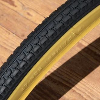 Fahrrad Reifen 28 x 1,75 x 2 (47-622), Import, schwarz m. hellbrauner Flanke