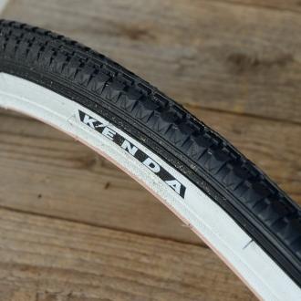 """Fahrrad Reifen """"KENDA"""", 27"""" x 1 1/4, (32-630), schwarz / weisswand"""