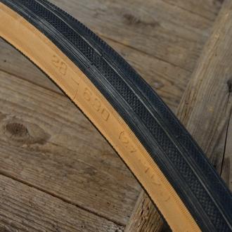 """Fahrrad Reifen """"CONTINENTAL C83"""", 27"""" x 1 1/4, (32-630), schwarz / braune Flanke"""