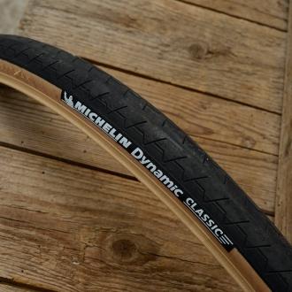 """Fahrrad Reifen """"MICHELIN Dynamic Classic"""", 28"""", (25-622 / 700x25C), schwarz mit brauner Flanke"""