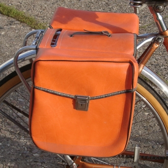 velo classic shop packtaschen f r fahrrad orange orig. Black Bedroom Furniture Sets. Home Design Ideas