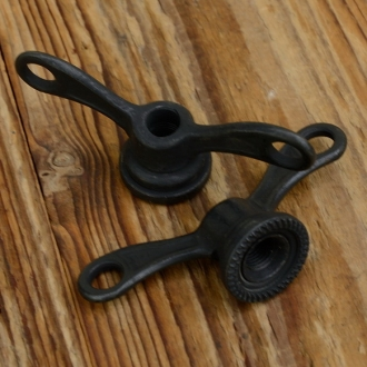 Flügelmutter, brüniert, FG 9.5mm,  für Sportrad Hinterachse, rarer orig. Altbestand 30/40er Jahre