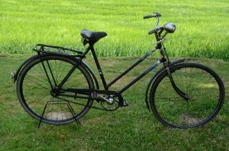 """Damenfahrrad """"PANTHER"""", schwarz, Baujahr 50er J., Strahlenkopf weiss-blau, RH=55cm, 28"""" x 1.75"""