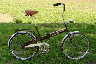 """Fahrrad /  Klapprad / Zerlegerad, """"INTERCYCLE HOLLAND"""", 70/80er Jahre , braun, sehr schöner Originalzustand,"""
