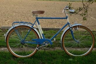 "Herrenfahrrad Sport, ""BAUER  Sport "", rare, alte Neuware !! Bj. 1961 , blau, RH=55cm, 26 Zoll ,  Originallack."