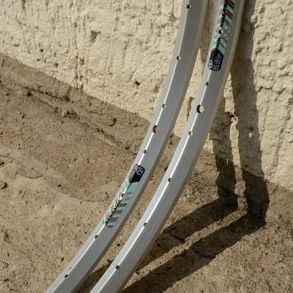 "Felgen Satz Draht 26"" x 1,75 (559-19) ""ALESA Voyager"" Aluminium , ungeöst, 36/36 Loch, 23mm breit, Nippelbohrung 4,5mm"